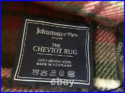 New Johnstons Of Elgin The Cheviot Rug Blanket 100% Wool Made In Scotland Warm