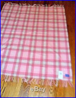 New PENDELTON 100% VIRGIN WOOL THROW BLANKET 72 x 54 MADE USA pink gray NWT