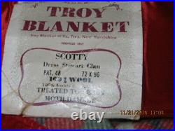New Troy Red Plaid Wool Blanket 90x72