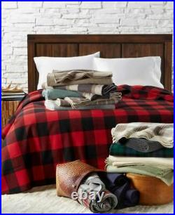 PENDLETON Eco-Wise Wool Solid Blanket Red Plaid KING Sustainable Renewable New