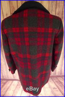 PENDLETON High Grade WESTERN WEAR Shadow Plaid WOOL Blanket JACKET COAT Vintage