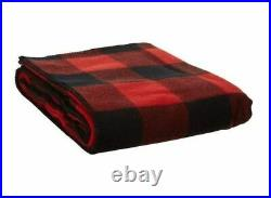 PENDLETON Queen Size Rob Roy Tartan Red Black Eco-Wise Washable Wool Blanket NWT