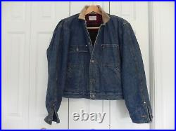 POLO RALPH LAUREN Large Mens Made in USA Wool Blanket Lined Denim Train Jacket