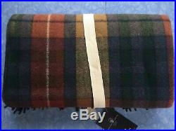 Patrick King Wollen Company Highland Collection Scottish Wool Blanket Plaid