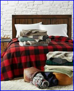 Pendleton 90 x 96 Eco-Wise Washable 100% Pure Virgin Wool Blanket Queen Caper