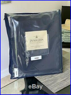 Pendleton ECO-WISE WOOL SOLID BLANKET Midnight Blue NEW