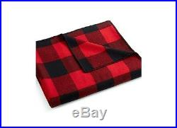 Pendleton Eco-Wise Washable Wool Blanket NWT Queen Red/Black Tartan Made In USA