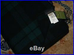 Pendleton Eco-Wise Wool King Blanket, Black Watch Tartan, Brand New With Tags