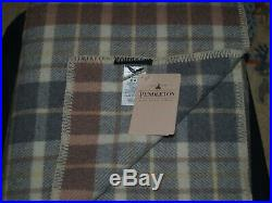 Pendleton Eco-Wise Wool King Blanket, Blush Grey Plaid, Brand New With Tags