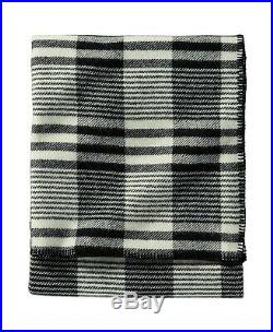 Pendleton Eco-Wise Wool Plaid Blanket, Keep You Warm, Queen, Ivory Contempo