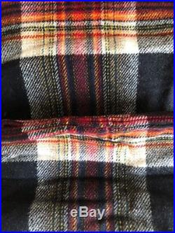 Pendleton Home Carry Along Motor Blanket -Acadia Black Wool Roll up with Strap