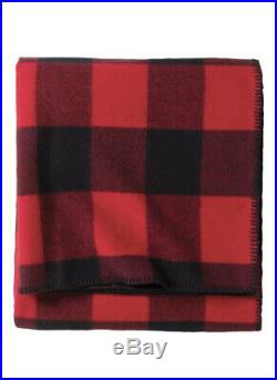 Pendleton King Eco-Wise Washable Wool Blanket In Red Plaid Buffalo $500