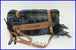 Pendleton Motor Robe with Leather Carrier Wool Blanket NWT