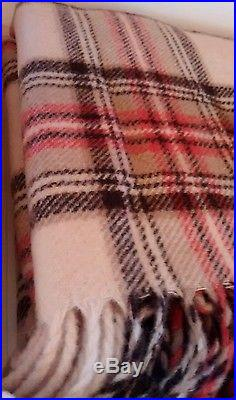 Pendleton Plaid Pure Virgin Wool Red Beige Brown Blanket, New in Box with Tags