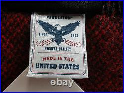 Pendleton Wool Blanket NWT King Red/Black Buffalo Eco-Wise Washable Made In USA