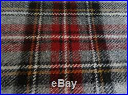 Pendleton Wool Blanket Queen NWT Washable Grey Tartan Plaid Picnic Made in USA