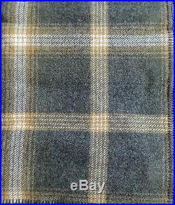 Pendleton Wool Blanket Queen NWT Washable Oxford Grey Plaid Picnic Made in USA