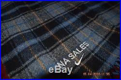 Pendleton Wool Stadium Camp LOST LAKE Plaid Blanket Throw withLeather Carrier