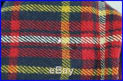 Pendleton Wool Throw Vintage Older Classic Navy Red Yellow Plaid