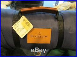 Pendleton roll up blanket green plaid New with tag 60 72 wool nylon outer w tag