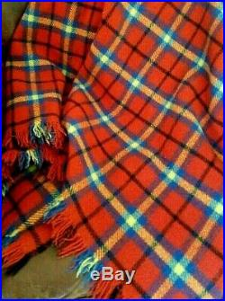 Plaid Blanket Camp Stadium Throw Wool Indian Trading Blankets