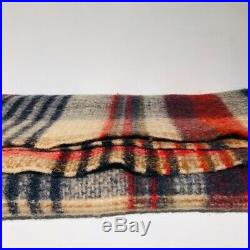 Pre-loved authentic MISSONI multi color PLAID throw blanket HANDLOOMED wool
