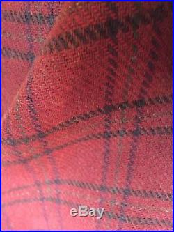RARE Hard to Find Japanalia 100% Wool Plaid Blanket Poncho OSFA NWOT