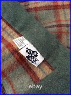 RARE Vtg The Company Store Wool Blend Plaid Blanket Gorgeous
