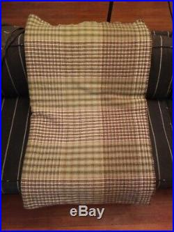 Ralph Lauren 100% Wool Plaid Blanket 108 X 90 Made in USA KING SIZE
