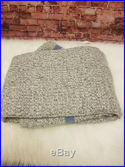 Ralph Lauren Blue Label Grave Send Throw Cotton Gray Made In India $330.00