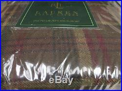 Ralph Lauren Grosvenor Square 100% WOOL Plaid Checked Bed Blanket Full/Queen