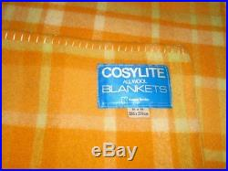 Rare Vtg Kaiapoi Cozy Lite New Zealand All Wool Blanket Queen Plaid Excellent