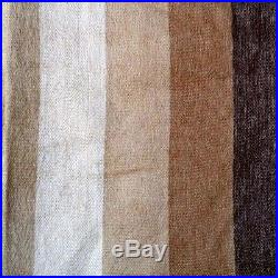 Sale! Soft & Warm Beige Striped Alpaca Wool Blanket Plaid 90 X 70 Ecuador