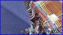 Set of 2 McNaughtons of Pitlochry Scotland Anderson Plaid Wool Blanket 53 x 56