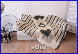Soft Throw Blanket Grey Wool Fluffy Sofa Plaid Bed Coverlet Modern Home Decor