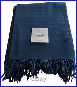 Somma 1867 plaid 100% pure new wool throw blanket 51x67 + fringed made in Italy