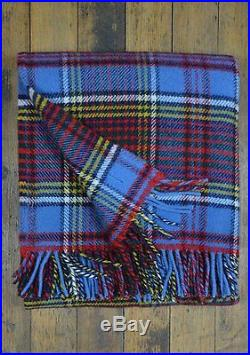 Tweedmill 100%wool Throw Blanket Reversible Plaid Made In England New Wi Tag
