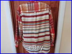 Trade Blanket Flannel Plaid Stripes Western Shirt wool blend XL Think Pink
