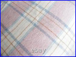 Traditional Vintage Large 100% Welsh Wool Blanket 79inch x 71 inch