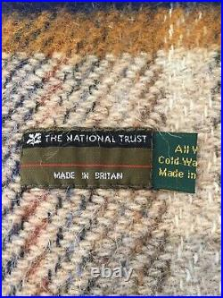 Two National Trust Blanket Throws Pure Wool Made in Britain Vintage Items