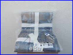 Ugg Home Glacier Plaid Throw Fringe Wool Blanket Makes A Great Gift Nwt