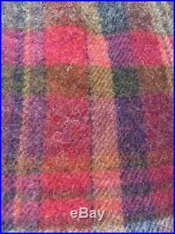 VTG John Hanly & Co. Woven In Ireland Pure Wool Afghan Blanket Throw Plaid
