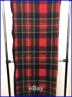 VTG Pendleton Wool Blanket Tartan Plaid Queen Made USA Bright Colors Dry Cleaned