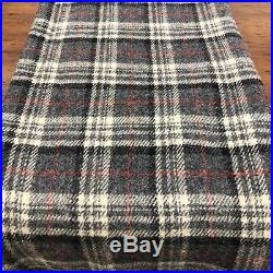 Vintage 100% Virgin Wool PENDLETON Blanket Grey Plaid 88 x 50