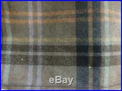 Vintage 100% Wool Plaid Poncho by Pendleton Outwear w Fringes Made in USA