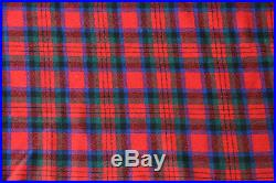 Vintage Early PENDLETON Maurice Rothschild Plaid Wool Throw Blanket 48 x 54
