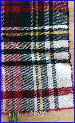 Vintage L. L. Bean Plaid Wool Blanket 84 x 73 Made in the USA