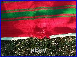 Vintage Large Blankets Throw pure wool bed Cover handmade Moroccan 10'3x5'9 Feet