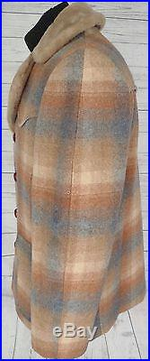 Vintage PENDLETON HIGH Grade WESTERN Wear WOOL BLANKET Jacket COAT SHADOW PLAID