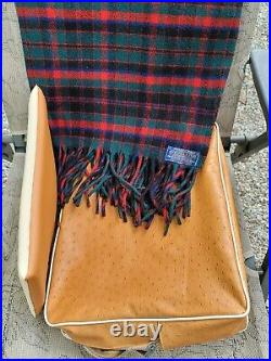Vintage Pendleton Robe in a Bag Stadium Wool Blanket Red Green Plaid with cushion